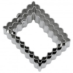 French petit-beurre cookie cutter x3